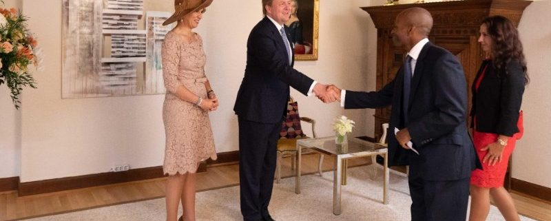 Shaking hands with the King and Queen of the Netherlands