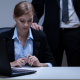 VLV-The challenges a woman face in the workplace-Uncomfortable woman at work