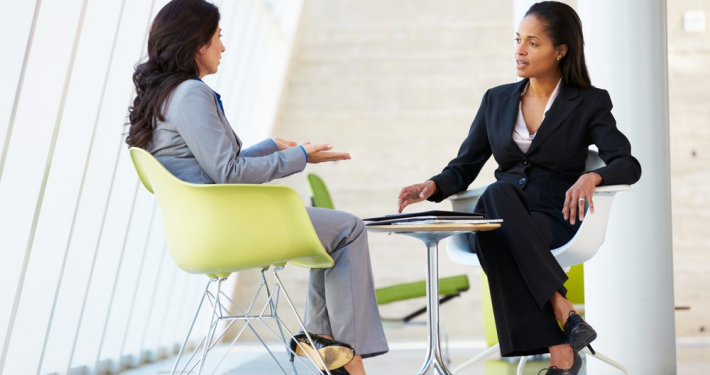 VLV-Learn the basics of how to deal with troubled people-Business woman dealing with a difficult person