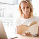 VLV-Reading as a method of learning and personal growth-Woman with a book