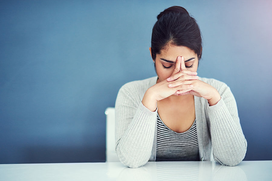 Migraine: It can be caused because you stress at work